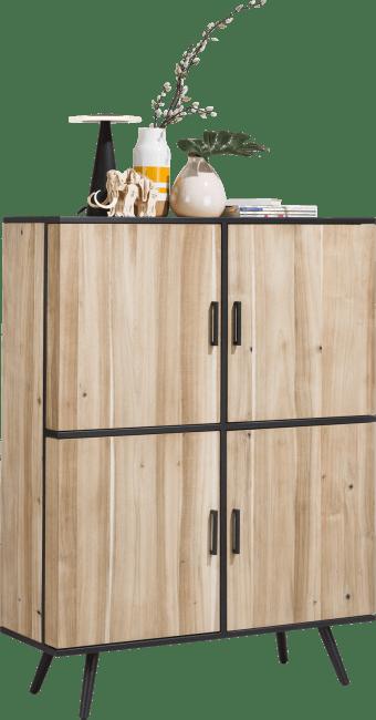 Kinna - armoire 114 cm - 4-portes