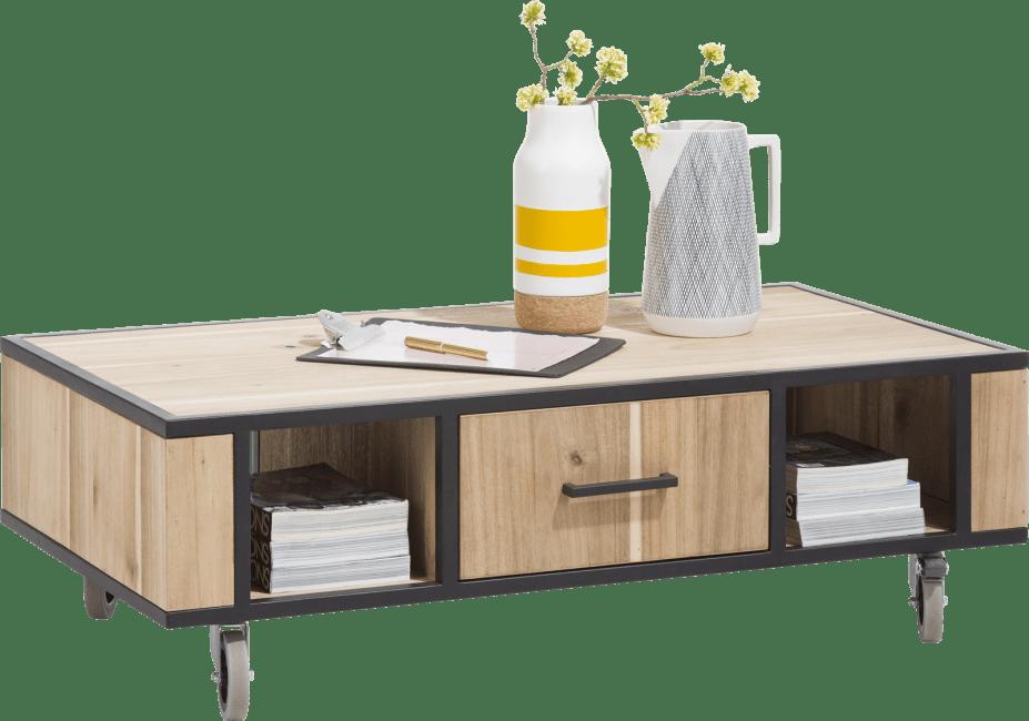 Kinna - salontafel 110 x 60 cm + 1-lade t&t + 2-niches