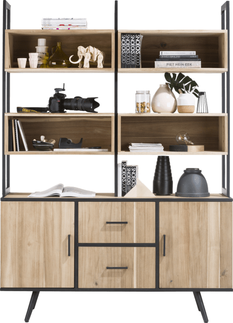Kinna - rek op dressoir 150 cm + 8-niches