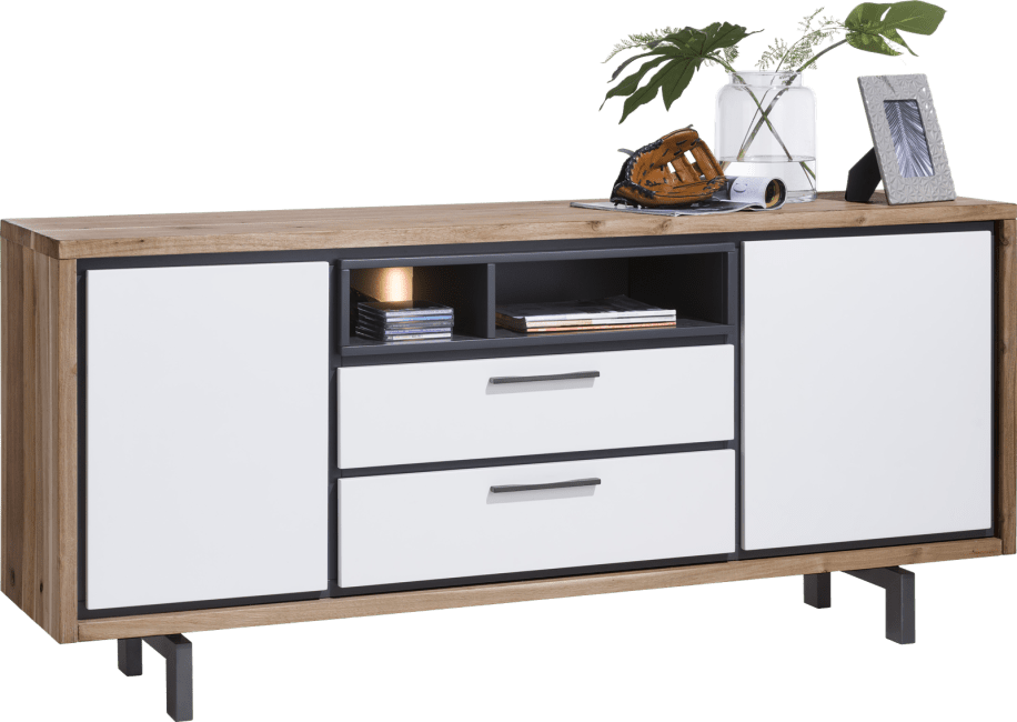 Otta - buffet 180 cm - 2-portes + 2-tiroirs + 2-niches (+ led)
