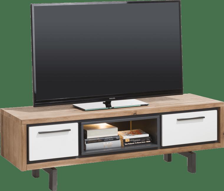 Otta - meuble tv 140 cm - 1-tiroir + 1-porte rabattante + 1-niche ( +led)