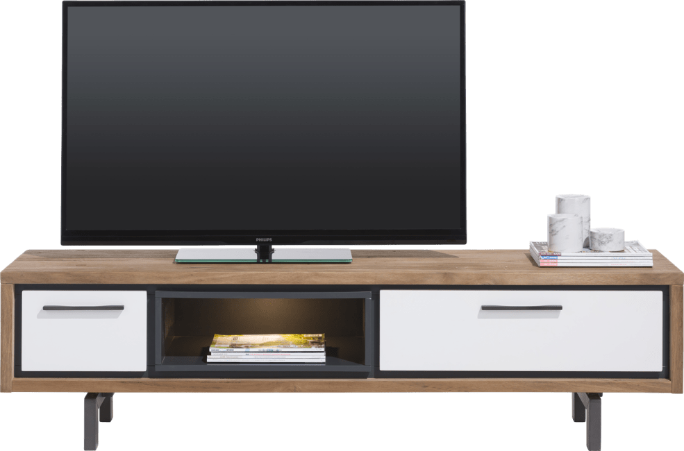 Otta - tv-sideboard 170 cm - 1-lade + 1-klappe + 1-nische (+ led)