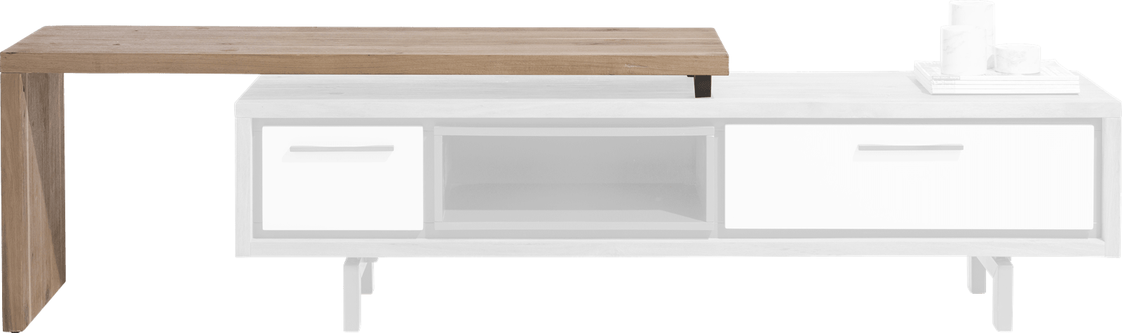 Otta - meuble tv avec plateau pivotante 140 cm - a monter