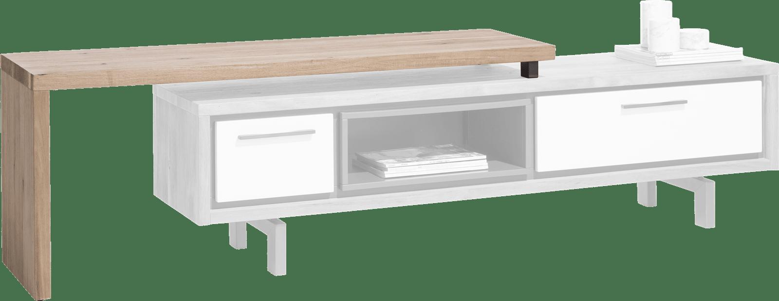 Otta - tv-sideboard mit drehbare platte 140 cm - selbstmontage