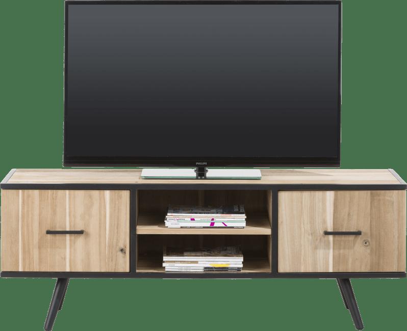 Kinna - meuble tv 150 cm - 1-porte + 1-tiroir + 2-niches