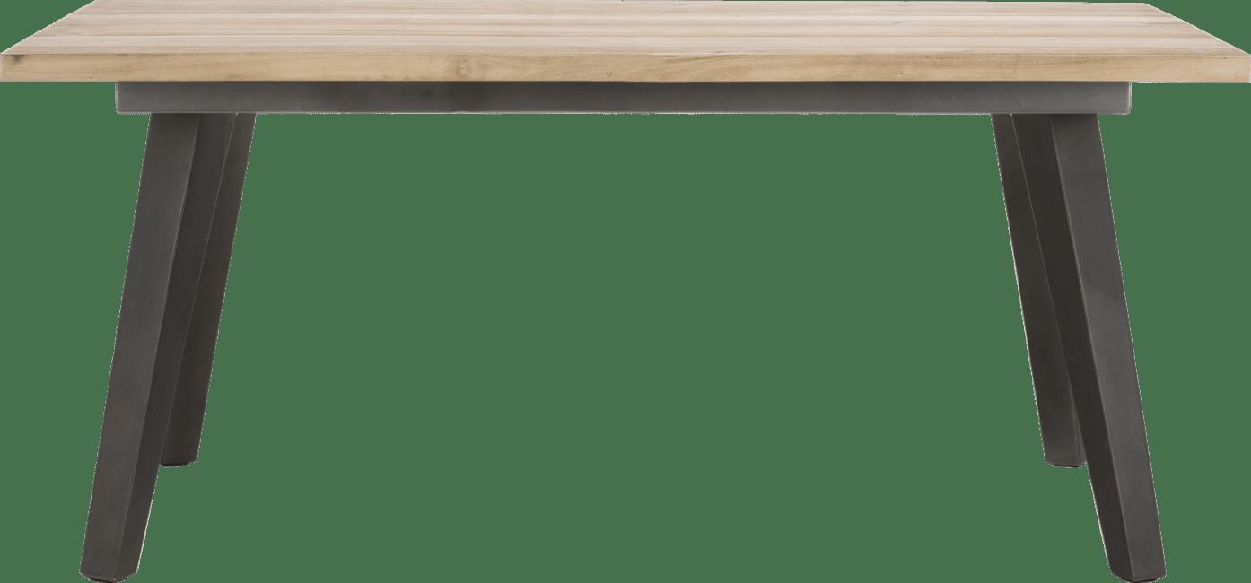 Kinna - eetkamertafel 220 x 100 cm - geheel hout