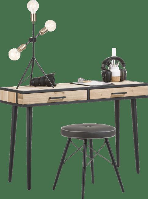 Kinna - wandtisch 120 x 40 cm + 2-laden ohne laden-geleiter