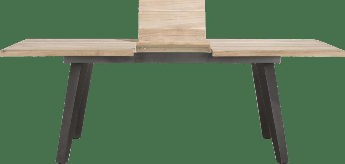 Kinna - uitschuiftafel 180 (+ 50) x 100 cm - geheel hout