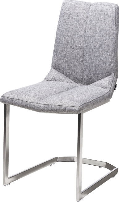 Artella - chaise pied inox traineau carre - lady gris ou mint