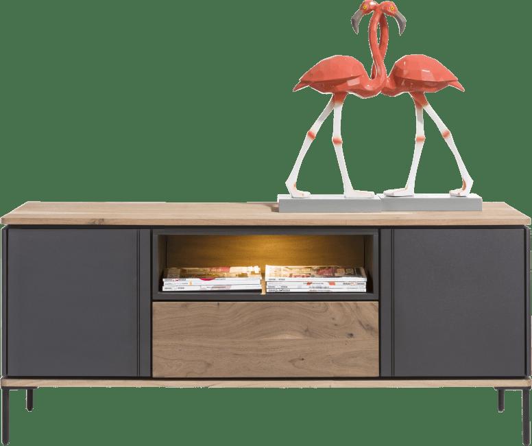 Lanai - lowboard 140 cm - 2-portes + 1-tiroir + 1-niche (+ led)