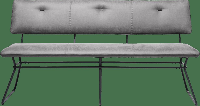 Otis - bank 160 cm. -schwarz gestell - kibo antr./lady + biese kibo antrazit