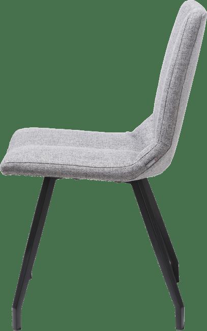 Artella - chaise noir 4 pieds - lady gris ou mint