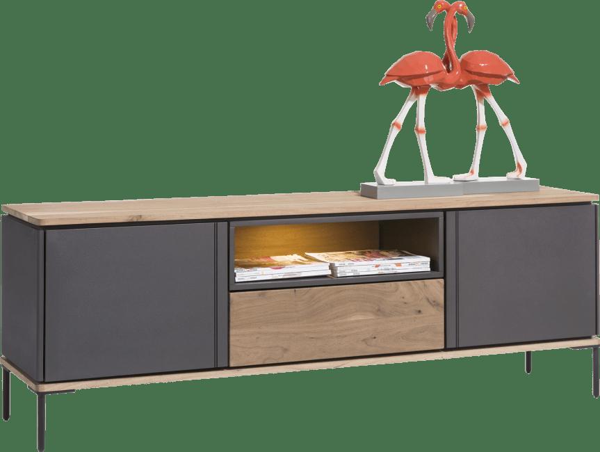 Lanai - lowboard 170 cm - 2-deuren + 1-lade + 1-niche (+ led)