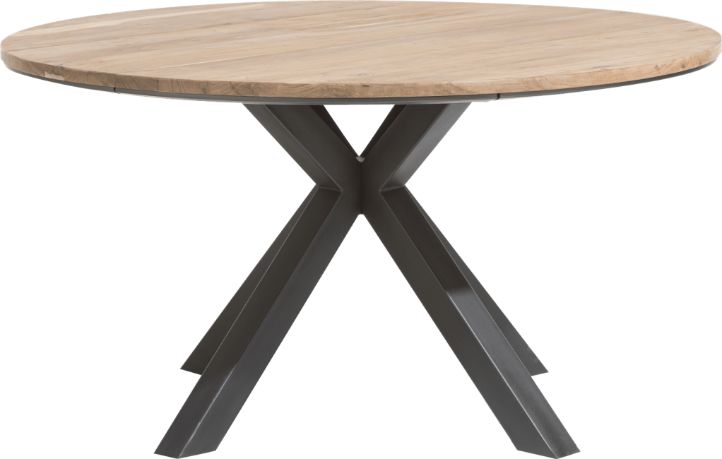 Colombo - table ronde 150 cm chene massif + mdf