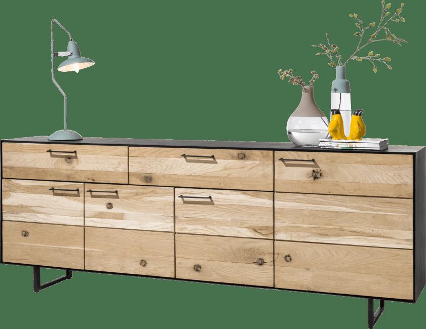 Barcini - buffet 4-portes + 2-tiroirs - 230 cm