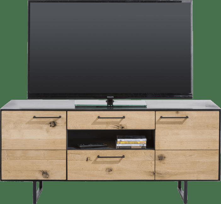 Barcini - lowboard 2-portes + 2-tiroirs + 1-niche - 140 cm (+ led)