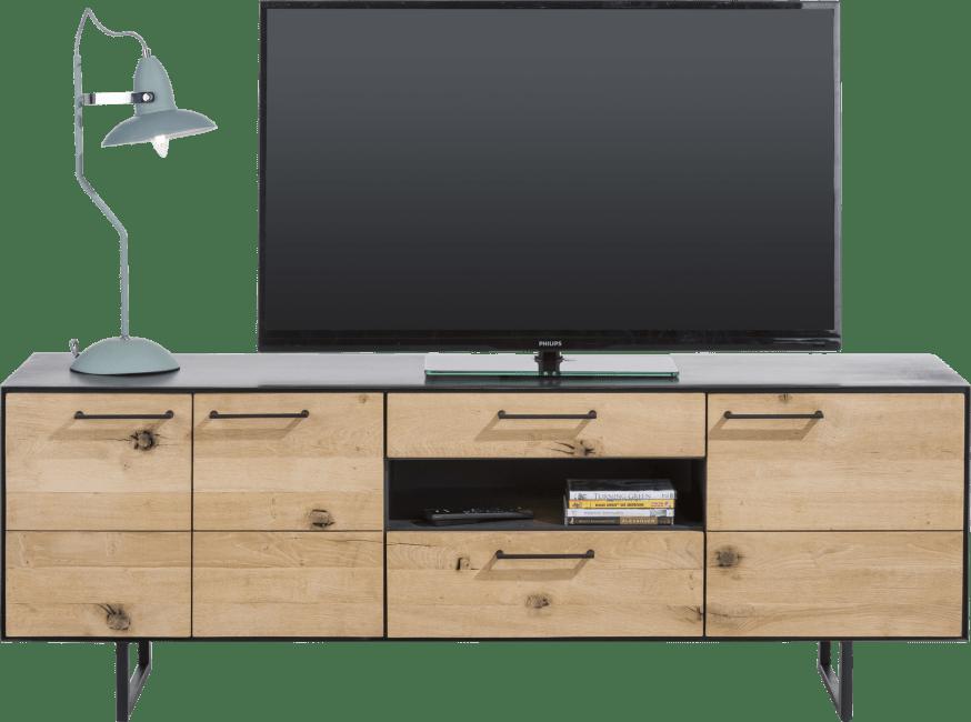 Barcini - lowboard 3-deuren + 2-laden + 1-niche - 170 cm (+ led)