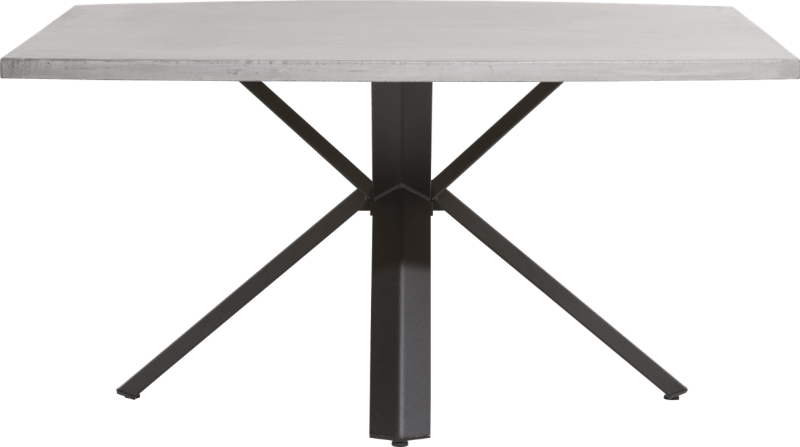 Maddox - eetkamertafel 150 x 130 cm - beton - sterpoot