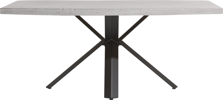 Maddox - table 190 x 100 cm - beton - pied forme etoile