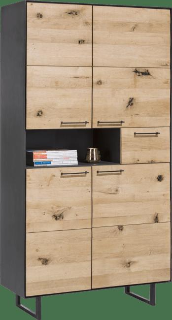 Barcini - armoire 4-portes + 1-tiroir +1-niche - 100 cm (+ led)