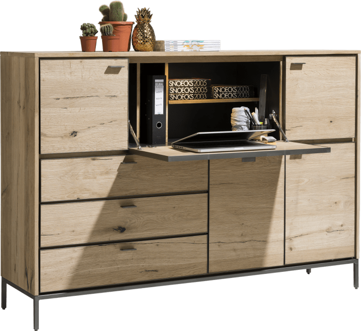 Faneur - dressette 170 cm - 4-doors + 3-drawers + 1-fall front (+ led)