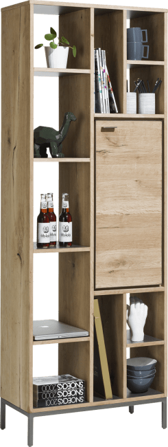 Faneur - bookcase 70 cm - 1-door + 11-niches