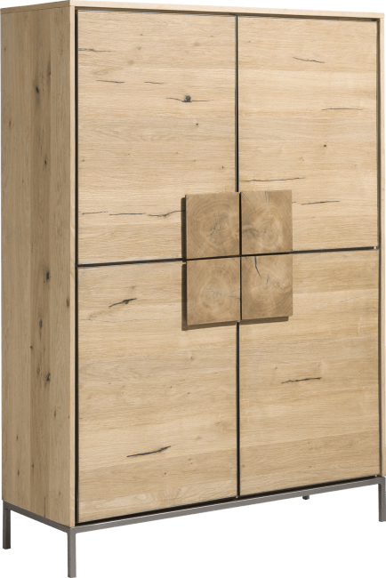 Faneur - cabinet 120 cm - 4-doors + 2-drawers (inside)