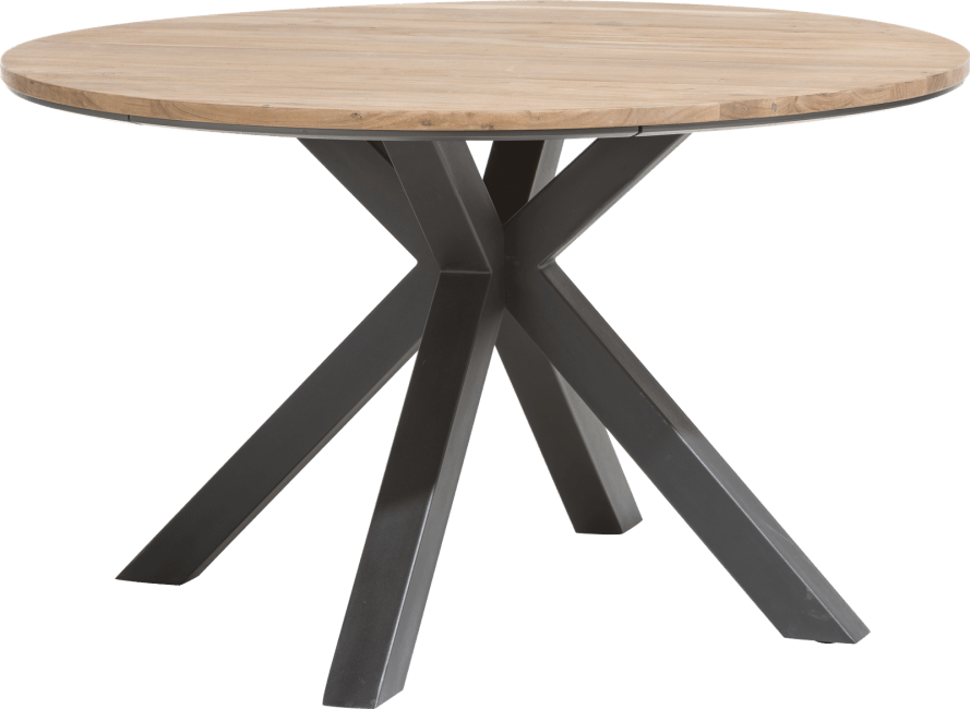 Table Ronde 130 Cm.Colombo Table Ronde 130 Cm Chene Massif Mdf