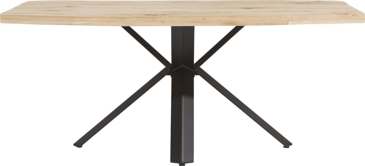 Maddox - table 190 x 100 cm - bois - pied forme etoile