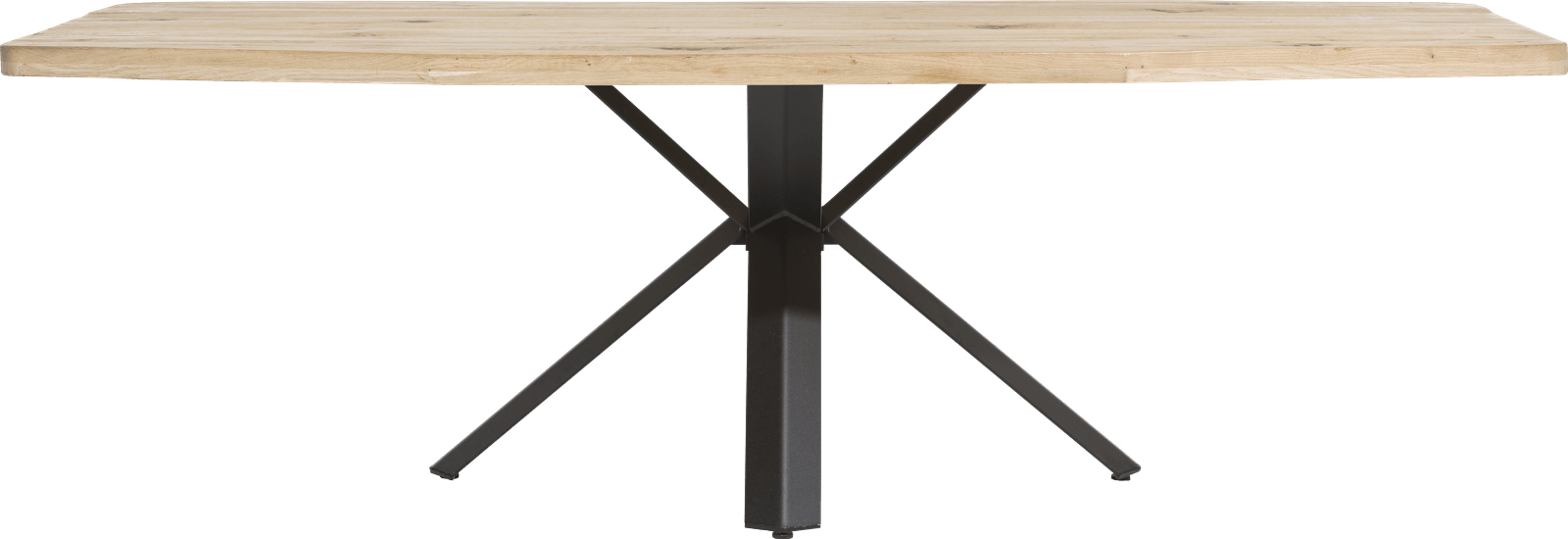 Maddox - table 250 x 100 cm - bois - pied forme etoile