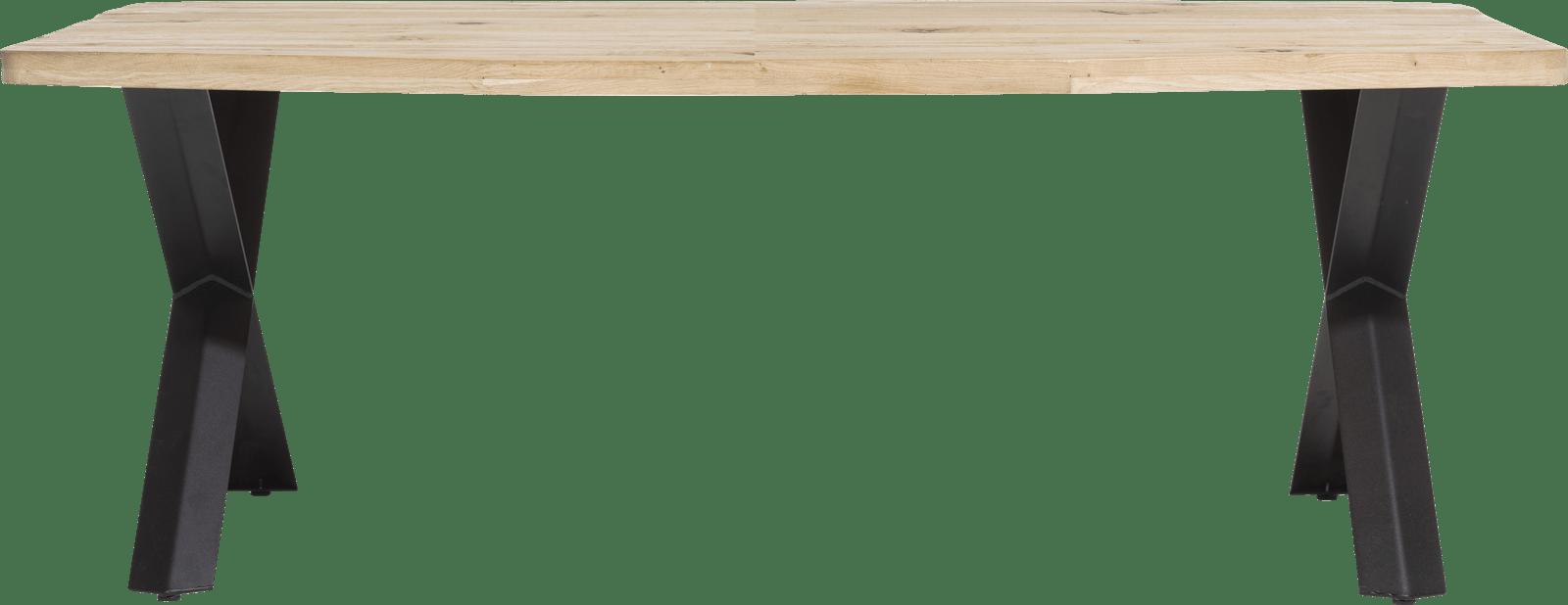 Maddox - table 220 x 100 cm - bois - pied forme x