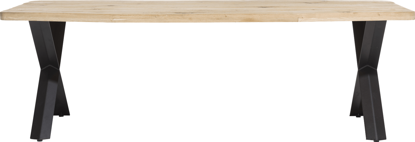 Maddox - eetkamertafel 250 x 100 cm - hout - x-poot
