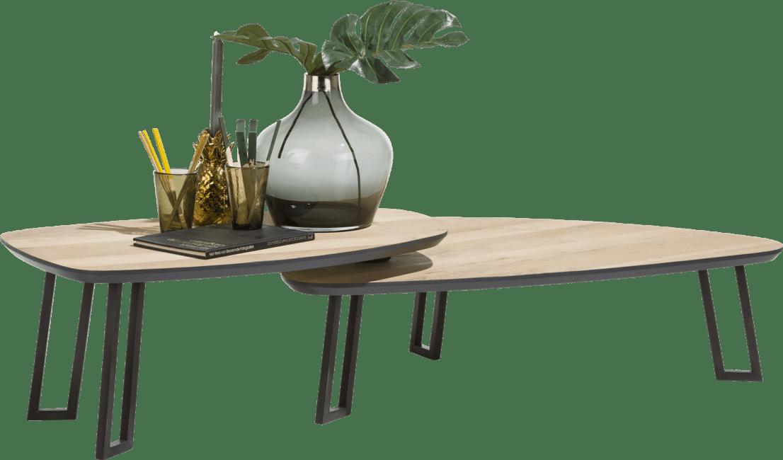 Darwin - table basse 100 x 80 cm + 2 parties pivotante