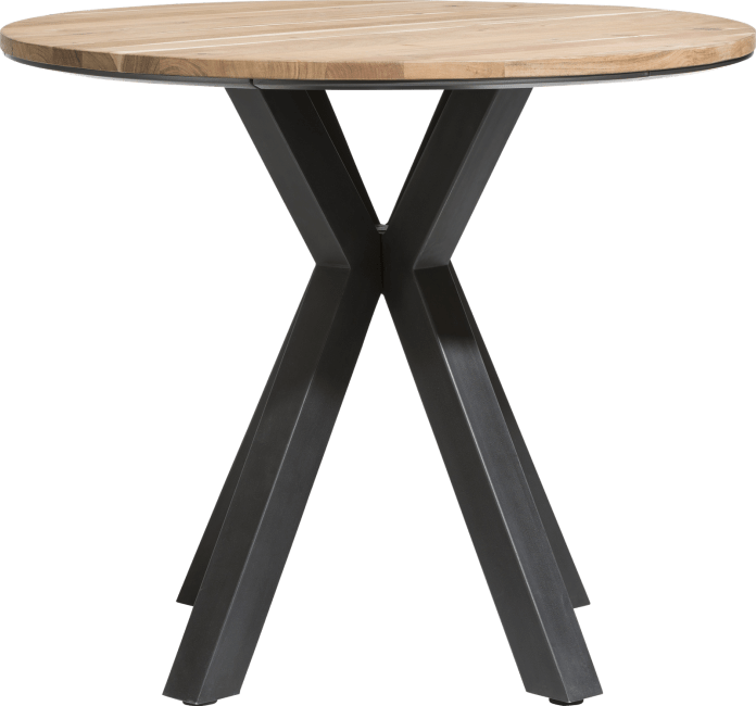 Colombo - table de bar rond 110 cm - kikar massif + mdf