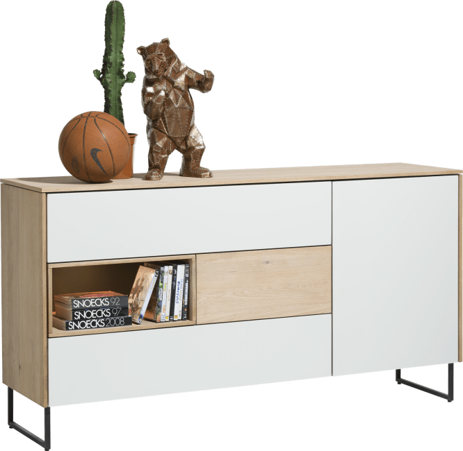 Darwin - dressoir 160 cm - 1-deur + 3-laden + 1-niche (+ led)