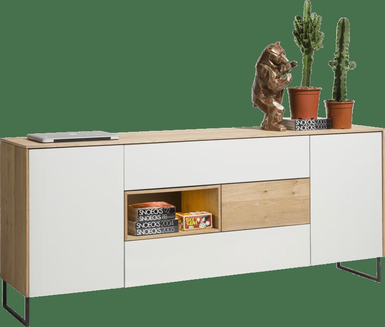 Darwin - sideboard 200 cm - 2-tueren + 3-laden + 1-nische (+ led)