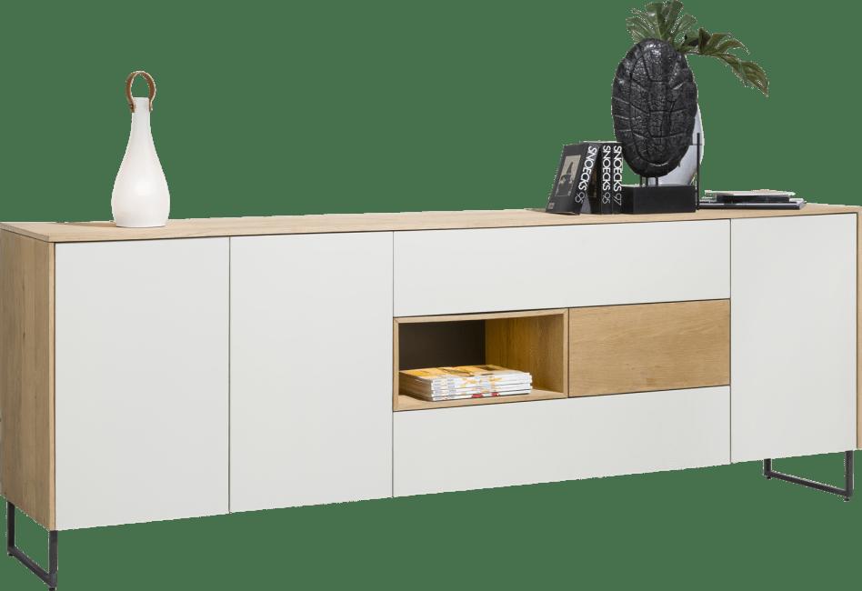 Darwin - dressoir 240 cm - 3-deuren + 3-laden + 1-niche (+ led)