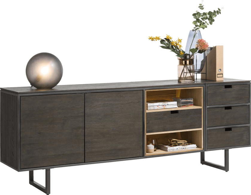 Moniz - parti attacher buffet 50 cm - 3 tiroirs reversibles