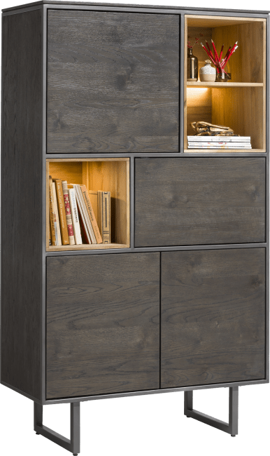 Moniz - armoire 100 cm - 4-portes + 3-niches (+ led)