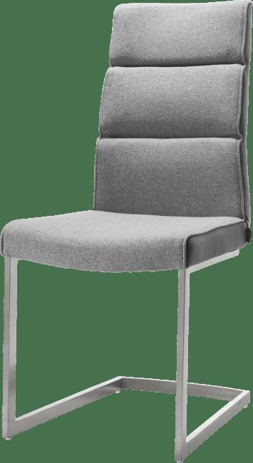 Jasmin - chaise - inox traineau carre