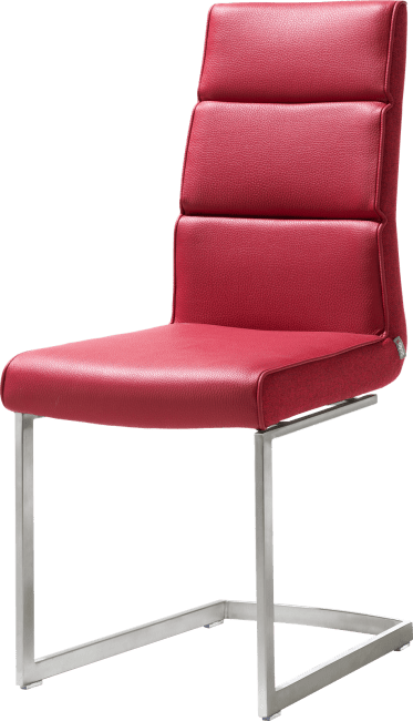Jasmin - chaise - pied traineau inox carre avec poignee