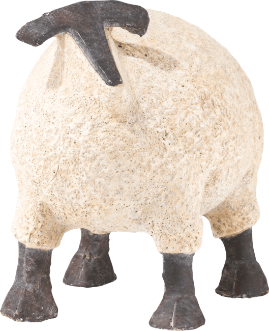 Coco Maison - beeld schaap small - wit - hoogte 29 cm
