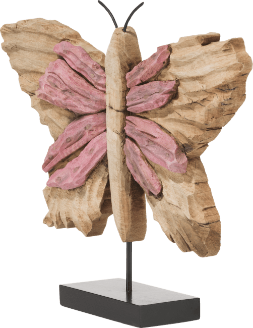 Coco Maison - object butterfly large - roze