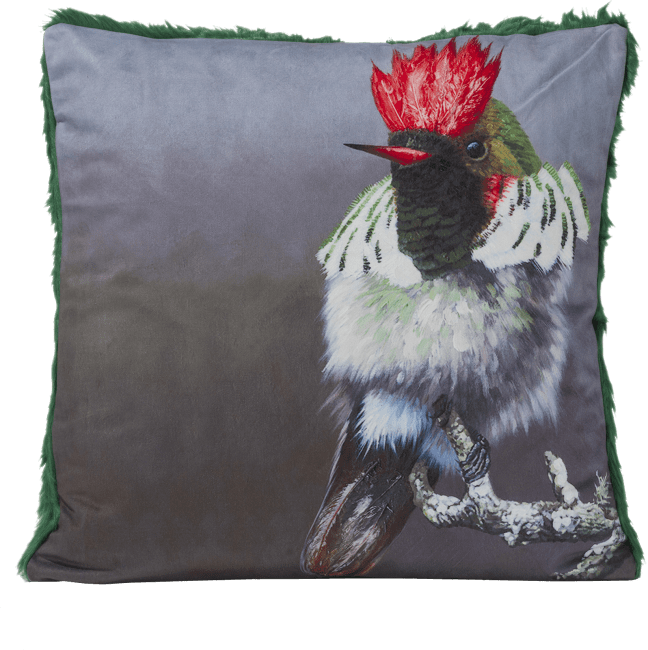 Coco Maison - cushion ruby crowned - 45 x 45 cm