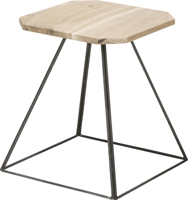 Coco Maison - table d'appoint kanpur - 40 x 40 cm + tube metal