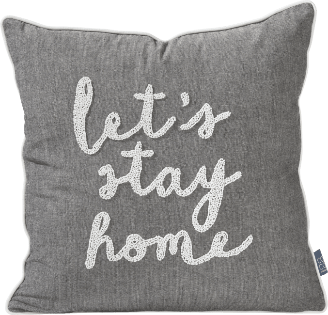 Coco Maison - cushion stay home - 45 x 45 cm