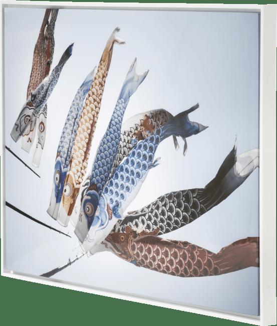 Coco Maison - schilderij fish kyte - 74 x 104 cm