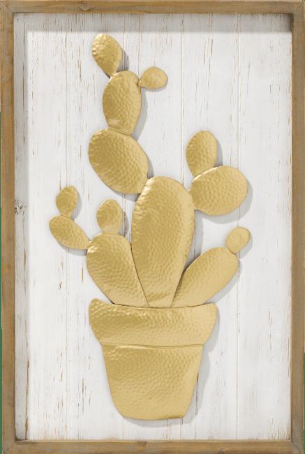 Coco Maison - wanddecoratie cactus - 60 x 40 cm
