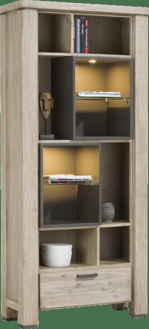 Coiba - boekenkast 1-lade + 10-niches (+ led)