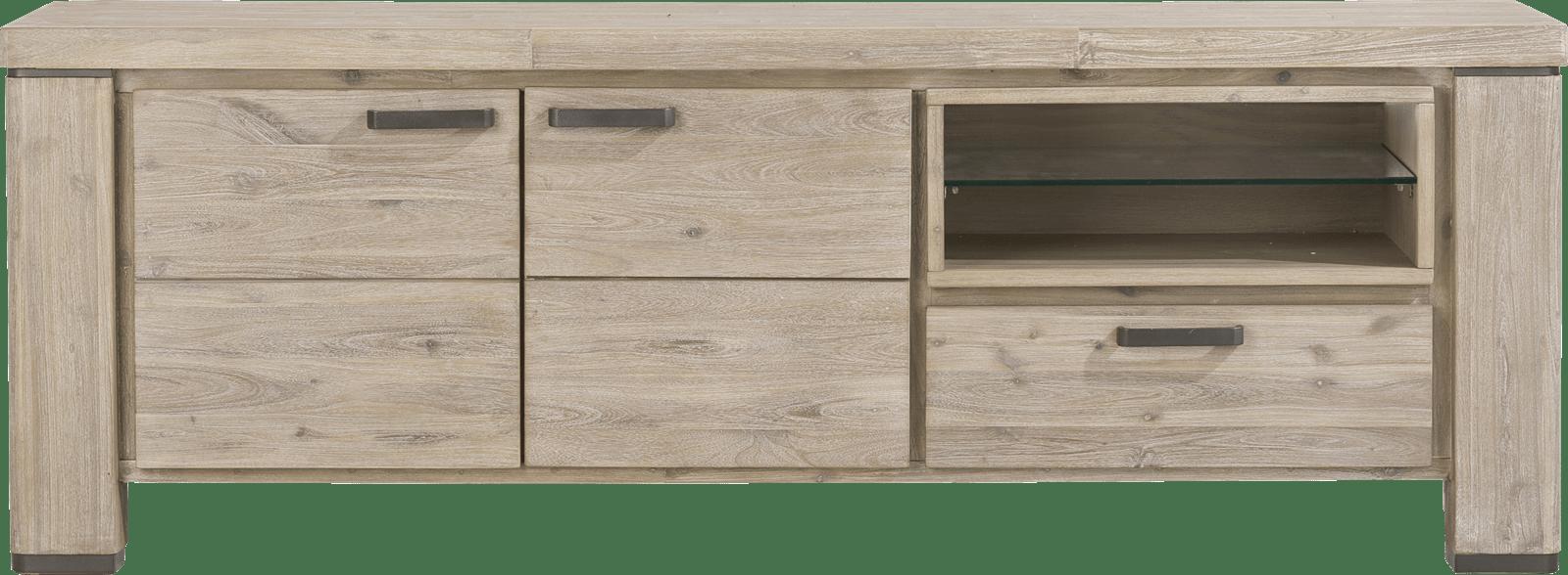 Coiba - lowboard 170 cm - 2-deuren + 1-lade + 2-niches